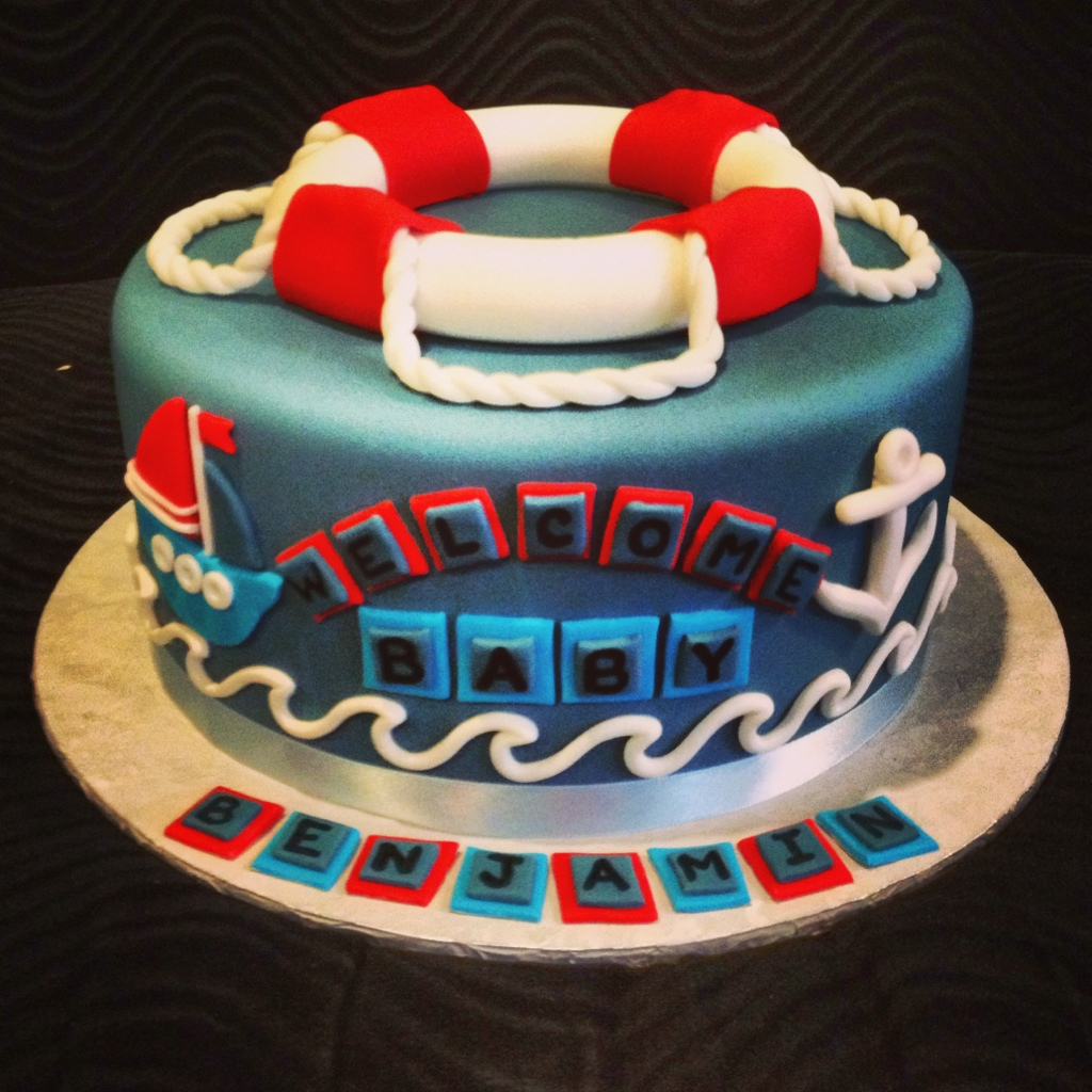nautical baby shower cake trish 39 s sweet dishes
